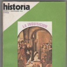Coleccionismo de Revista Historia 16: HISTORIA 16 EXTRA I, LA INQUISICIÓN, REPRESIÓN EN ESPAÑA. Lote 48581385