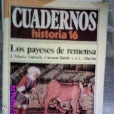 Coleccionismo de Revista Historia 16: LOS PAYESES DE REMENSA .REVISTA HISTORIA 16. Lote 50227764