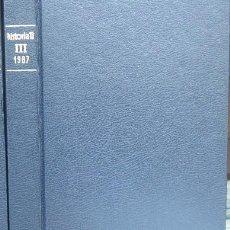 Coleccionismo de Revista Historia 16: REVISTA HISTORIA 16 ENCUADERNADA, AÑO 1987 (TOMO III - Nº 137-138-139-140).. Lote 51091758