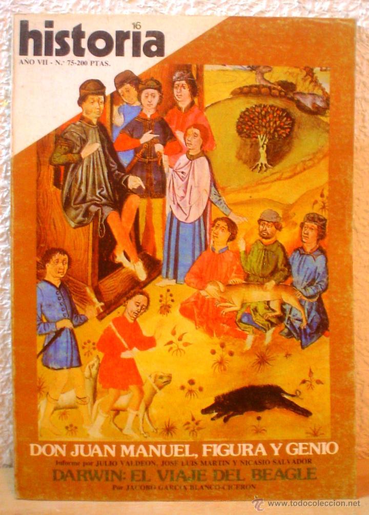 REVISTA HISTORIA 16. Nº 75. DON JUAN MANUEL , FIGURA Y GENIO. (Coleccionismo - Revistas y Periódicos Modernos (a partir de 1.940) - Revista Historia 16)