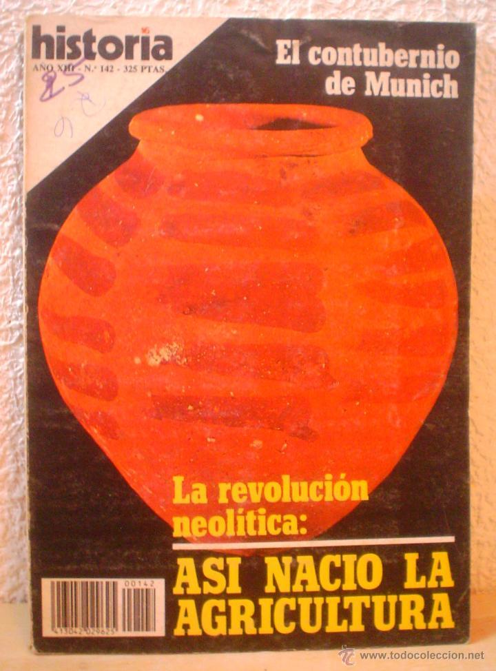 REVISTA HISTORIA 16. Nº 142. LA REVOLUCION NEOLITICA.ASI NACIO LA AGRICULTURA. (Coleccionismo - Revistas y Periódicos Modernos (a partir de 1.940) - Revista Historia 16)