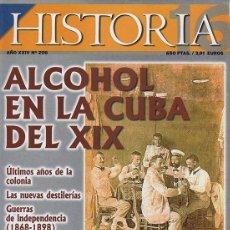Coleccionismo de Revista Historia 16: HISTORIA 16 (AÑO XXIV Nº 298) 'ALCOHOL EN LA CUBA DEL XIX'. Lote 54024208