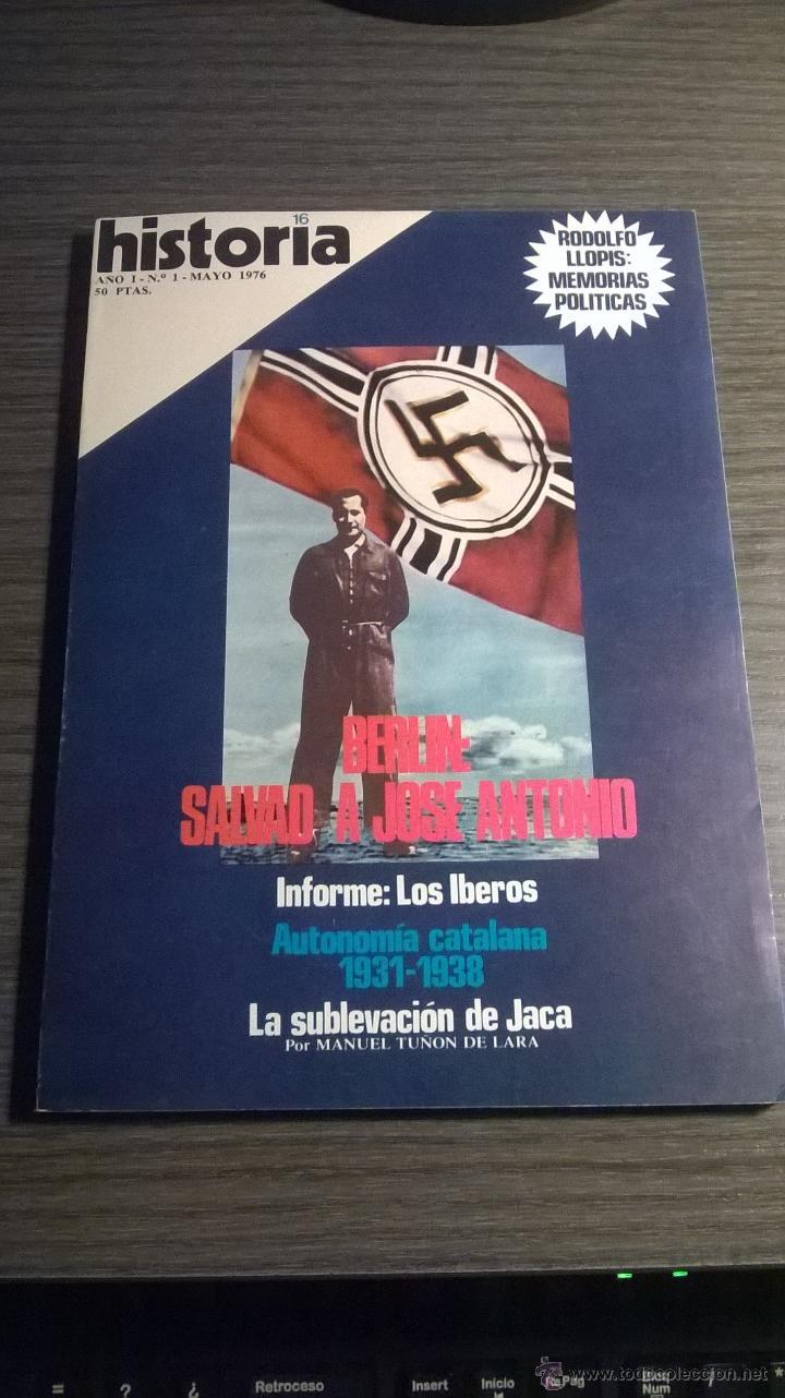 HISTORIA 16 - AÑO I - Nº 1 - MAYO 1976 (Coleccionismo - Revistas y Periódicos Modernos (a partir de 1.940) - Revista Historia 16)