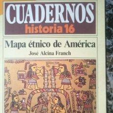 Coleccionismo de Revista Historia 16: CUADERNOS HISTORIA 16 - MAPA ETNICO DE AMERICA. Lote 58088684