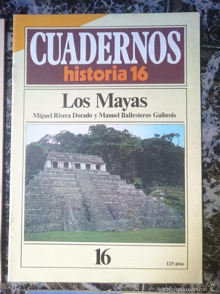 CUADERNOS HISTORIA 16 - LOS MAYAS (Coleccionismo - Revistas y Periódicos Modernos (a partir de 1.940) - Revista Historia 16)
