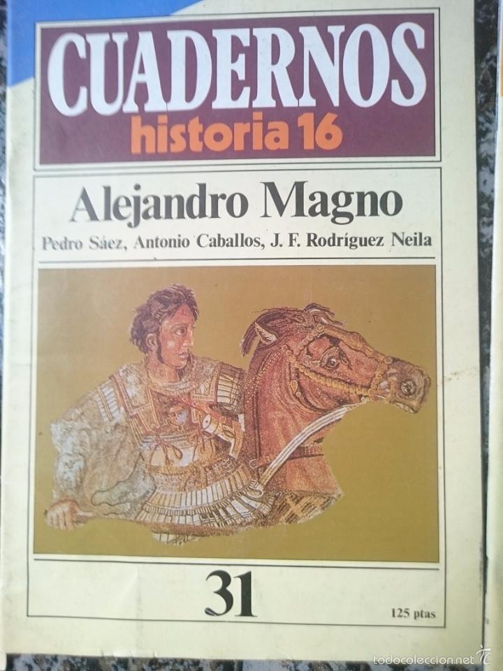 CUADERNOS HISTORIA 16 - ALEJANDRO MAGNO (Coleccionismo - Revistas y Periódicos Modernos (a partir de 1.940) - Revista Historia 16)