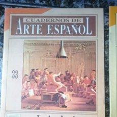 Coleccionismo de Revista Historia 16: CUADERNOS DE ARTE ESPAÑOL - LA ACADEMIA Y EL ARTISTA - ED. HISTORIA 16. Lote 58088721