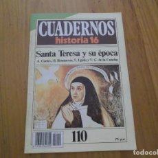 Coleccionismo de Revista Historia 16: CUADERNOS DE HISTORIA 16 - NÚMERO 110 - SANTA TERESA Y SU EPOCA. Lote 62710944