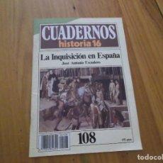 Coleccionismo de Revista Historia 16: CUADERNOS DE HISTORIA 16 - NÚMERO 108 - LA INQUISICIÓN EN ESPAÑA. Lote 62711352