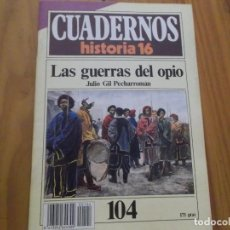 Coleccionismo de Revista Historia 16: CUADERNOS DE HISTORIA 16 - NÚMERO 104 - LAS GUERRAS DEL OPIO. Lote 62711540