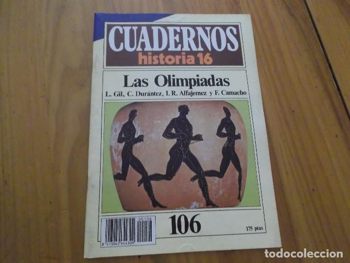 CUADERNOS DE HISTORIA 16 - NÚMERO 109 - LAS OLIMPIADAS (Coleccionismo - Revistas y Periódicos Modernos (a partir de 1.940) - Revista Historia 16)