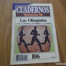 Coleccionismo de Revista Historia 16: CUADERNOS DE HISTORIA 16 - NÚMERO 109 - LAS OLIMPIADAS. Lote 62712016