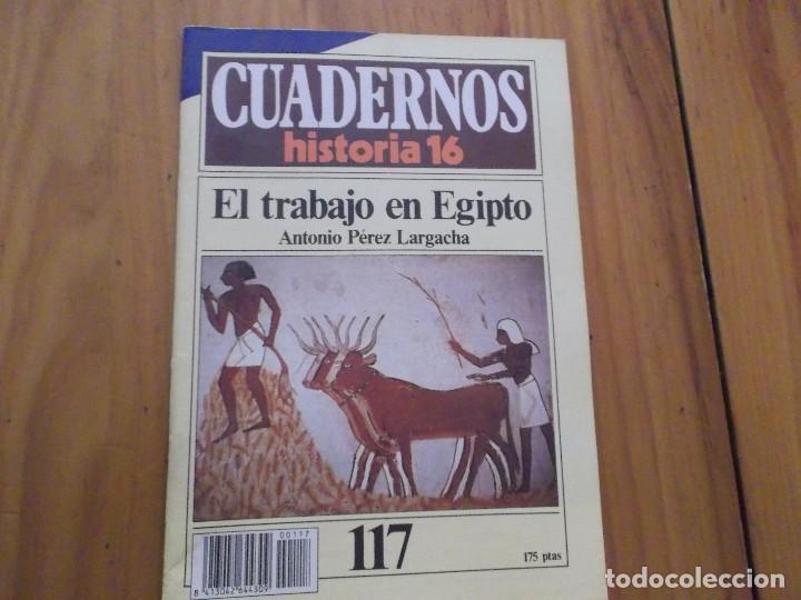 CUADERNOS DE HISTORIA 16 - NÚMERO 117 - EL TRABAJO EN EGIPTO (Coleccionismo - Revistas y Periódicos Modernos (a partir de 1.940) - Revista Historia 16)