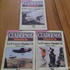 Coleccionismo de Revista Historia 16: CUADERNOS DE HISTORIA 16 - NÚMEROS 72, 73 Y 74 - LA SEGUNDA GUERRA MUNDIAL (2, 3, Y 4). Lote 62712252