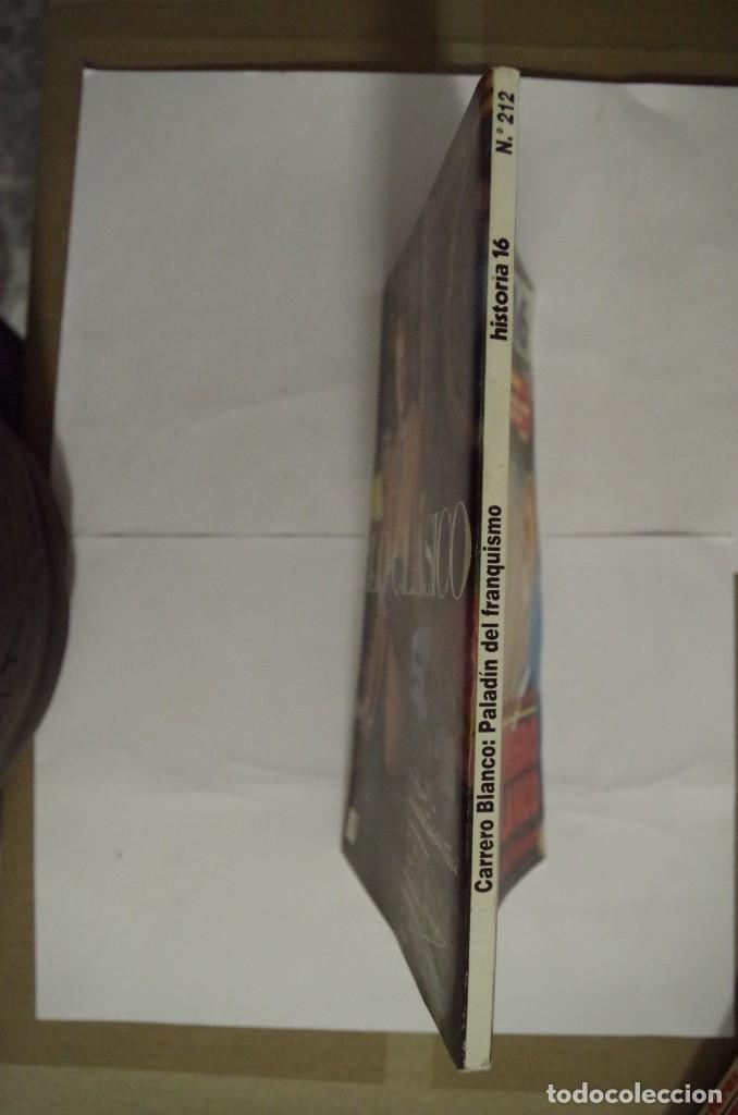 Coleccionismo de Revista Historia 16: REVISTA HISTORIA 16. AÑO XVIII. 550 PTAS. Nª 212.CARRERO BLANCO-PALADIN DEL FRANQUISMO.DICIEMBR 1993 - Foto 2 - 64701351