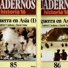 Coleccionismo de Revista Historia 16: CUADERNOS HISTORIA 16 Nº 85 Y 86 LA GUERRA EN ASIA 1 Y 2. Lote 171605190