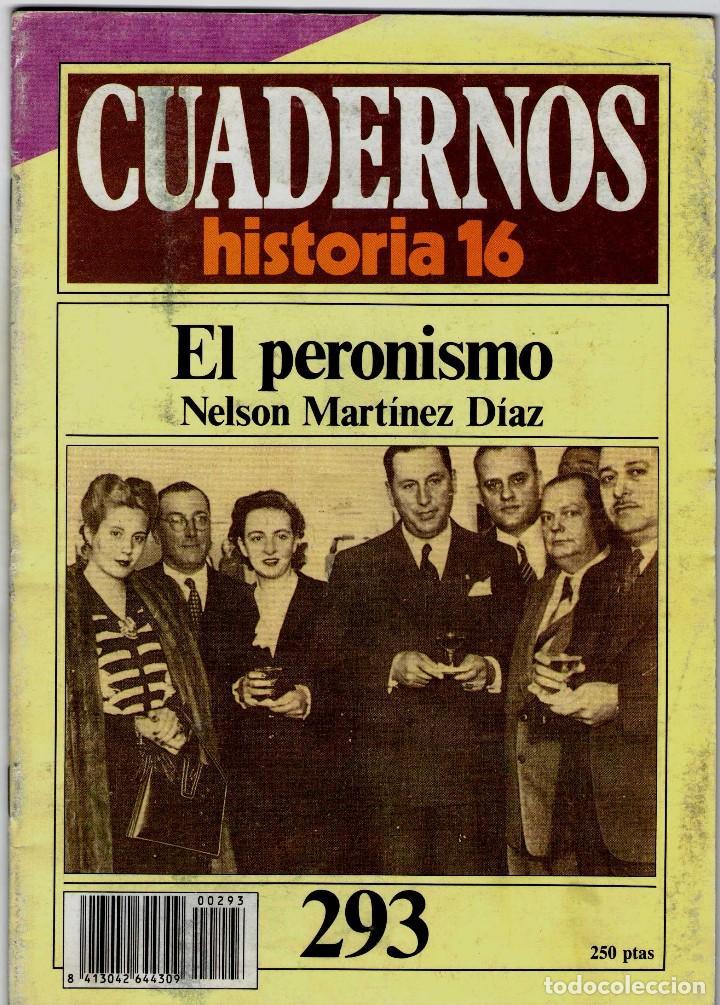 CUADERNOS HISTORIA 16 Nº 293 EL PERONISMO (Coleccionismo - Revistas y Periódicos Modernos (a partir de 1.940) - Revista Historia 16)