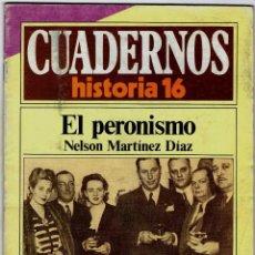 Coleccionismo de Revista Historia 16: CUADERNOS HISTORIA 16 Nº 293 EL PERONISMO. Lote 71117377