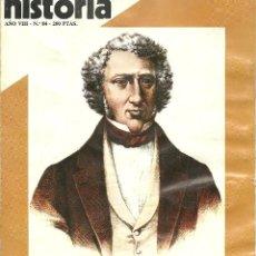 Coleccionismo de Revista Historia 16: HISTORIA 16. Nº 84. ABRIL 1983. LAS DESAMORTIZACIONES. WEYLER, MILITAR DE HIERRO. TEODORA ANTES DE L. Lote 72153295