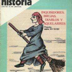 Coleccionismo de Revista Historia 16: HISTORIA 16. Nº 80.DICIEMBRE 1982. INQUISIDORES, BRUJAS, DIABLOS Y AQUELARRES. EXILIO MEJICANO. Lote 72344367