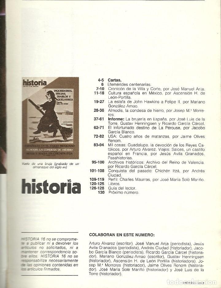 Coleccionismo de Revista Historia 16: HISTORIA 16. Nº 80.DICIEMBRE 1982. Inquisidores, brujas, diablos y aquelarres. Exilio mejicano - Foto 2 - 72344367
