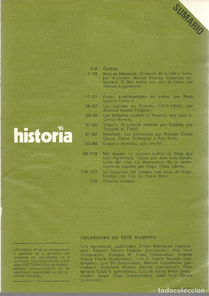 Coleccionismo de Revista Historia 16: HISTORIA 16. Nº 33 ENERO 1979. GERMANÍAS. PRIETO. GRECIA: FABRICANTES DE DIOSES - Foto 2 - 72717491