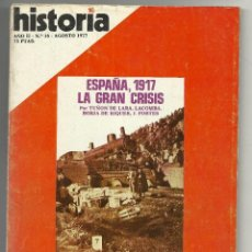Coleccionismo de Revista Historia 16: HISTORIA 16 Nª 16 AGOSTO 1977. ESPAÑA 1917. EL COMUNISMO EN USA. ARQUEOLOGÍA SUBMARINA EN MENORCA. Lote 72807547
