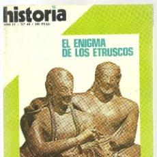 Coleccionismo de Revista Historia 16: HISTORIA 16 Nº 40 AGOSTO 1979. VIVA ZAPATA. FRANCO INÉDITO. ALTAMIRA SE MUERE. ETRUSCOS. Lote 72824771