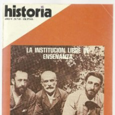 Coleccionismo de Revista Historia 16: HISTORIA 16 Nº 49 MAYO 1980. INSTITUCIÓN LIBRE DE ENSEÑANZA, ALMOGAVARES. FRANCIA: III REPUBLICA. Lote 72825019