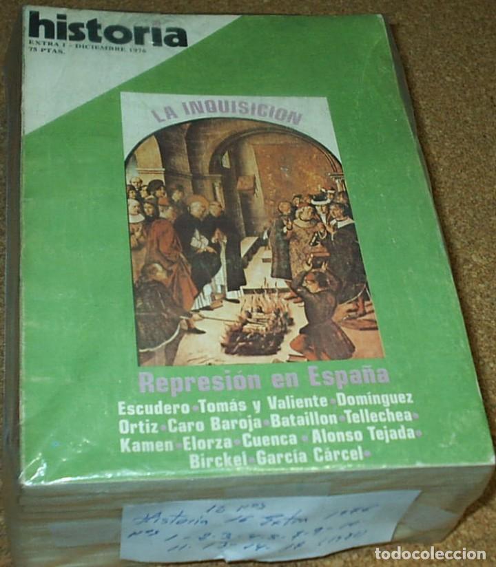 HISTORIA 16 EXTRA-LOTE DE 12 NOS. 1976-1,2.3.4.5.7.9.10.11.13.14.17. MUY BUEN ESTADO - LEER (Coleccionismo - Revistas y Periódicos Modernos (a partir de 1.940) - Revista Historia 16)