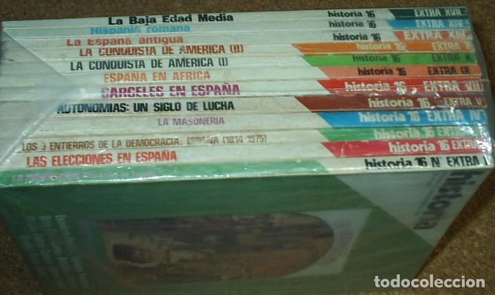 Coleccionismo de Revista Historia 16: HISTORIA 16 EXTRA-LOTE DE 12 Nos. 1976-1,2.3.4.5.7.9.10.11.13.14.17. MUY BUEN ESTADO - LEER - Foto 2 - 75022951