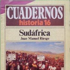 Coleccionismo de Revista Historia 16: SUDÁFRICA - CUADERNOS HISTORIA 16, Nº 133. Lote 78406533