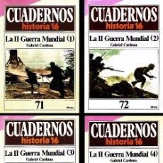 Coleccionismo de Revista Historia 16: B55 - HISTORIA 16. CUADERNO Nª 71+72+73+74. LA II GUERRA MUNDIAL. GABRIEL CARDONA.. Lote 81084104