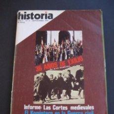 Coleccionismo de Revista Historia 16: REVISTA HISTORIA 16 Nº5 36 AÑOS DE EXILIO. GUERRA CIVIL. Lote 96453767