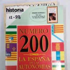 Coleccionismo de Revista Historia 16: HOS. REVISTA DE HISTORIA. LA ESPAÑA DE LAS AUTONOMIAS. NUMERO 200. COMPLETA TU COLECCION. Lote 103501015