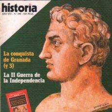 Coleccionismo de Revista Historia 16: REVISTA HISTORIA 16 Nº 190 / CARTAGO EN ESPAÑA / MUNDI-2873. Lote 103567743