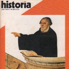 Coleccionismo de Revista Historia 16: REVISTA HISTORIA 16 Nº 90 / MARTIN LUTERO Y SU REFORMA / MUNDI-2874. Lote 103567911