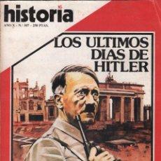 Coleccionismo de Revista Historia 16: REVISTA HISTORIA 16 Nº 107 / LOS ULTIMOS DIAS DE HITLER / MUNDI-2876. Lote 103568331