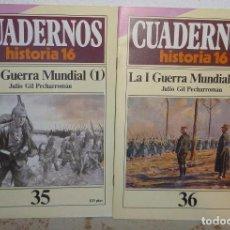 Coleccionismo de Revista Historia 16: 2 CUADERNOS HISTORIA16- LA I GUERRA MUNDIAL-35-36. Lote 104371139