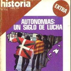 Coleccionismo de Revista Historia 16: HISTORIA 16 - EXTRA V - ABRIL 1978 - AUTONOMIAS: UN SIGLO DE LUCHA. Lote 146614392