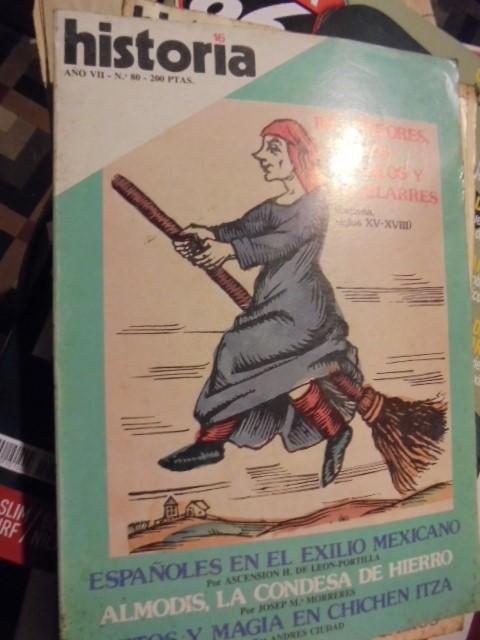 HISTORIA 80 - INQUISIDORES BRUJAS DIABLOS Y AQUELARRES - CHICHEN ITZA - 1982 - SIN USAR (Coleccionismo - Revistas y Periódicos Modernos (a partir de 1.940) - Revista Historia 16)