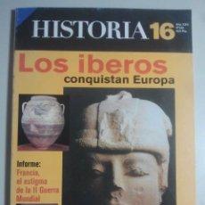 Coleccionismo de Revista Historia 16: HISTORIA 16, Nº 263 - LOS IBEROS CONQUISTAN EUROPA, PUERTO RICO, ALIMENTACIÓN EN ROMA, JOVELLANOS . Lote 121672579