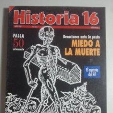 Coleccionismo de Revista Historia 16: HISTORIA 16, Nº 247 - MIEDO A LA MUERTE LA PESTE, FALLA, CARTAGINESES, ROLLOS Y PICOTAS .... Lote 121672747