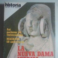 Coleccionismo de Revista Historia 16: HISTORIA 16, Nº 154 - DAMA IBÉRICA CERRO LUCERO, SAN JORGE, NACIMIENTO UNIVERSIDADES, MACHADO ... . Lote 121673159
