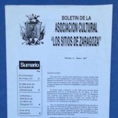 Coleccionismo de Revista Historia 16: ENVÍO GRATIS. BOLETÍN DE LA ASOCIACIÓN CULTURAL LOS SITIOS DE ZARAGOZA. CONDECORACIONES, ARMAMENTO.. Lote 121902735