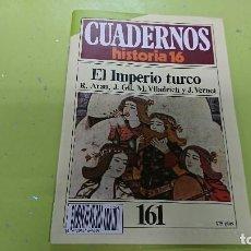 Coleccionismo de Revista Historia 16: CUADERNO CUADERNOS HISTORIA 16 - IMPERIO TURCO N° 161. Lote 122183835