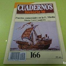 Coleccionismo de Revista Historia 16: CUADERNO CUADERNOS HISTORIA 16 - PUERTOS COMERCIALES EN LA E. MEDIA N° 166. Lote 122184999