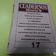 Coleccionismo de Revista Historia 16: ARCHIVADOR VACÍO CUADERNOS HISTORIA 16 - VACÍO - NÚMERO 17 - PARA LOS CUADERNOS 161 AL 170. Lote 122185851