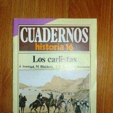 Coleccionismo de Revista Historia 16: CUADERNOS HISTORIA 16. 280 : LOS CARLISTAS / J. ARÓSTEGUI, M. BLINKHORN, J.M. TORRE Y M. FERNÁNDEZ. Lote 256014655