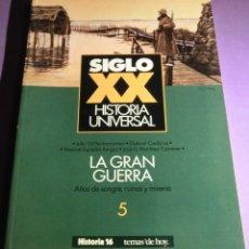 Coleccionismo de Revista Historia 16: SIGLO XX HISTORIA UNIVERSAL [5]: LA GRAN GUERRA (COMO NUEVA). Lote 133306342